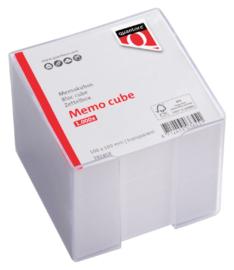 Memokubus Quantore 10x10x10cm transparant met 900vel