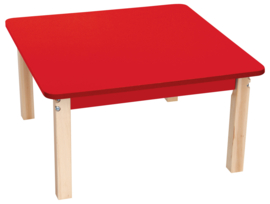 Vierkante kleurrijke tafelblad rood