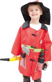 Verkleedpak - brandweerman met accessoires