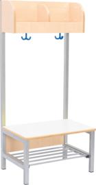 Flexi garderobe 2, zithoogte 35 cm - wit