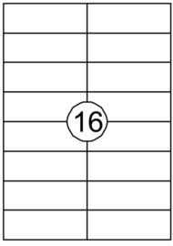 Etiket Quantore 105x37mm 1600stuks