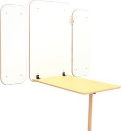 Klaptafel Flexi - geel 70-76cm