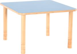 Vierkante Flexi tafel 80x80cm blauw in hoogte verstelbaar