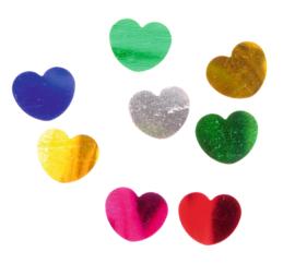 Glanzende confetti, harten