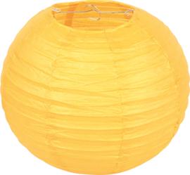 Papieren lampion - geel