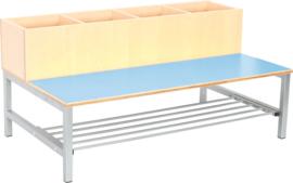 Flexi combibank 4, zithoogte 35 cm., lichtblauw