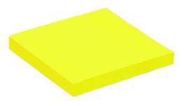 Memoblaadjes Quantore 76x76mm neon geel