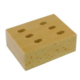 Scharenblok hout voor 6 scharen