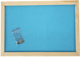 Prikbord 90 x 120 cm - lichtblauw
