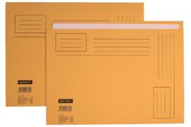 50x Vouwmap Quantore A4 ongelijke zijde 230gr geel