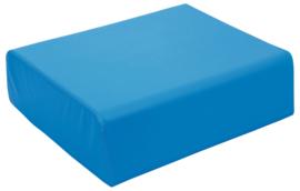Grote zachte tafel poef hoogte 24cm - blauw
