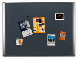 Textielbord dynamic grijs 90 x 180 cm