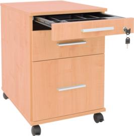 Container met een pennenlade en lades - beuken