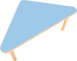 Driehoekige Flexi- tafel 108x80x80cm blauw 40-58cm hoogte verstelbaar