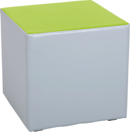 Wachtruimte zitje  40x40x40cm - Grijs/lime