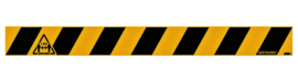 Vloersticker Houd afstand geel-zwart 8x80cm