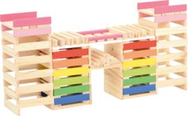 Creatieve houten blokken, 250 stuks