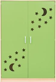 Kast voor stretchers 501002-501005, groene deuren