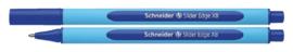 Balpen Schneider Slider Edge blauw extra breed