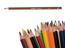 12 kleurpotloden Bruynzeel d.bruin 943