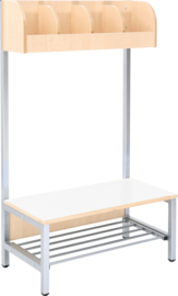 Flexi garderobe 4, zithoogte 26 cm - wit
