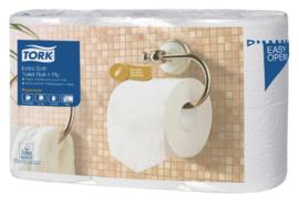 84rollen Toiletpapier Tork T4 110405 Premium 4laags 153vel wit