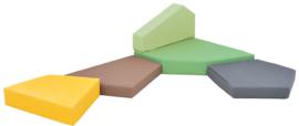 Quadro 2 matten set - groot