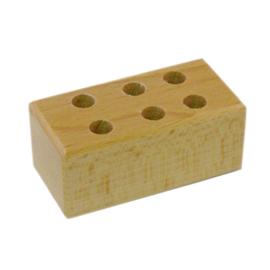 Potloden of kwarstenblok hout voor 6 potloden