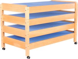 Wielen voor houten bed