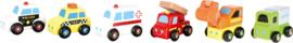 Mini houten speelgoedauto's, 6 st