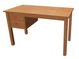 Bureau hout | 120 x 60 cm | 2 laden links