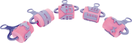 Foam verfrollers 5 stuks roze - Stad