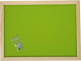 Prikbord 100 x 150 cm - lichtgroen