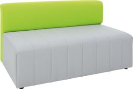 Eigentijdse bank Plus, grijs/groen