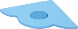 Foam driehoek dun 60x60x10cm - Blauw