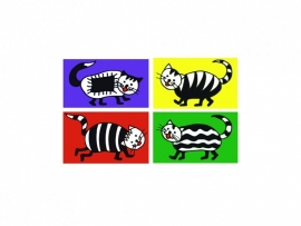 Stickers Funny Cats - serie 1
