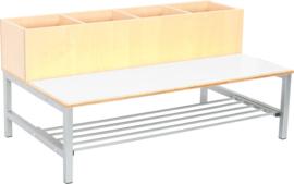 Flexi combibank 2, zithoogte 35 cm., wit