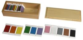 Kleurrijke planken - secundaire kleuren