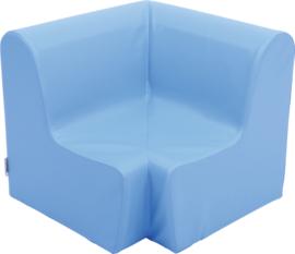 Medium hoekbank 58,5cm zithoogte 26cm - Lichtblauw
