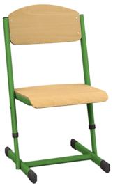 Len stoel met instelbare hoogte - maat 1-6 groen