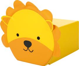 Foam dieren poef 30x50x26cm - Leeuw