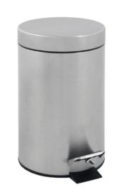 Afvalbak pedaalemmer RVS mat rond 3 liter