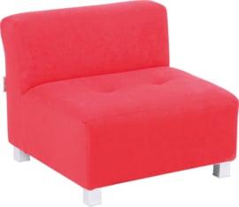 Flexi bank, zithoogte 25 cm,  rood