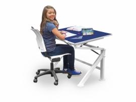 Verstelbare tafel blauw
