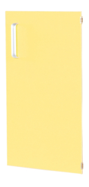 Deur voor smalle kast Flexi en kast M met scheidingswand rechts -  -  geel