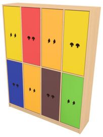 Deuren voor regenboog garderobe met patroon 8 stks