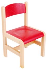 Houten stoel - rood maat 1-3