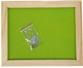 Prikbord 60 x 90 cm - lichtgroen