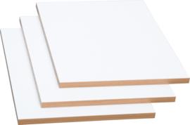 Planken voor kleurrijke boekenkasten - wit