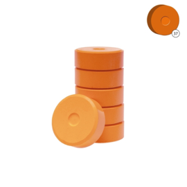 Colorall verfblokken Ø 5,5 cm  6 dlg - Oranje